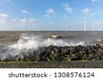 dutch sea with off shore wind...   Shutterstock . vector #1308576124
