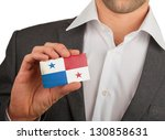 businessman is holding a... | Shutterstock . vector #130858631