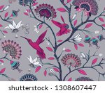 colorful seamless pattern with... | Shutterstock . vector #1308607447