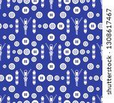seamless pattern with zipper ...   Shutterstock .eps vector #1308617467