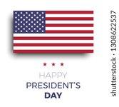 happy presidents day modern...   Shutterstock .eps vector #1308622537