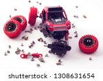 disassembled car and scattered... | Shutterstock . vector #1308631654