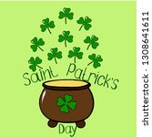 st. patrick's day  vector image.... | Shutterstock .eps vector #1308641611