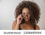 portrait of young beautiful...   Shutterstock . vector #1308689044