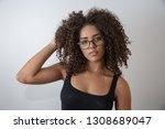 beauty portrait of african...   Shutterstock . vector #1308689047