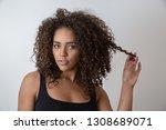beauty portrait of african...   Shutterstock . vector #1308689071