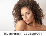 beauty portrait of african...   Shutterstock . vector #1308689074