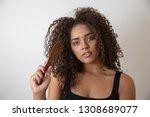 beauty portrait of african...   Shutterstock . vector #1308689077