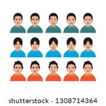 character facial face emotion... | Shutterstock .eps vector #1308714364