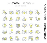set of vector line icons and... | Shutterstock .eps vector #1308731077