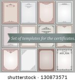 certificate templates   Shutterstock .eps vector #130873571