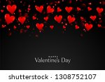 black background with floating... | Shutterstock .eps vector #1308752107