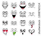 happy symbol emotions icons... | Shutterstock .eps vector #1308763114