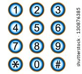 number icons set | Shutterstock . vector #130876385