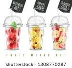 fruit mix 3 realistic summer... | Shutterstock .eps vector #1308770287