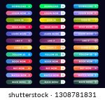 vector button set modern trendy ... | Shutterstock .eps vector #1308781831
