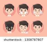 clean the face and facial skin... | Shutterstock .eps vector #1308787807