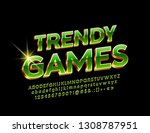 vector chic icon trendy games... | Shutterstock .eps vector #1308787951