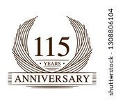 115 years design template.... | Shutterstock .eps vector #1308806104