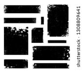 a set of distressed vector... | Shutterstock .eps vector #1308809641