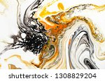 mixture of acrylic paints.... | Shutterstock . vector #1308829204