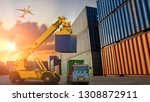 logistics and transportation of ... | Shutterstock . vector #1308872911