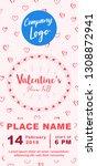 valentines day marketing banner ... | Shutterstock .eps vector #1308872941