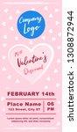 valentines day marketing banner ... | Shutterstock .eps vector #1308872944