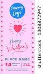 valentines day marketing banner ... | Shutterstock .eps vector #1308872947