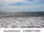 blue sea ocean and sky abstract ... | Shutterstock . vector #1308874384