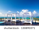 pavilion and swimming pool in... | Shutterstock . vector #130890371