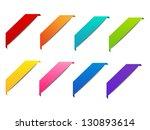 set of color corner ribbons | Shutterstock .eps vector #130893614