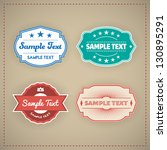 vintage label vector set | Shutterstock .eps vector #130895291