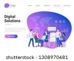 digital solutions business... | Shutterstock .eps vector #1308970681