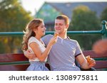 love and affection between a... | Shutterstock . vector #1308975811