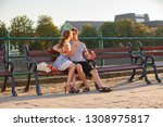love and affection between a... | Shutterstock . vector #1308975817