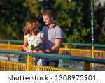 love and affection between a... | Shutterstock . vector #1308975901
