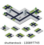 isometric urban elements on a... | Shutterstock .eps vector #130897745
