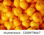 fruit scene of tangerine or...   Shutterstock . vector #1308978667