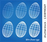 wire frame eggs with varying... | Shutterstock .eps vector #130898069