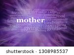 mothering sunday word cloud ... | Shutterstock . vector #1308985537