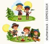 cartoon happy children having... | Shutterstock .eps vector #1309013614