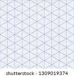 isometric graph paper... | Shutterstock .eps vector #1309019374