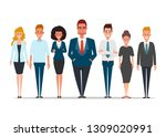 business people character... | Shutterstock .eps vector #1309020991