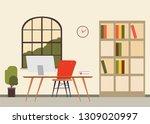 scene of office room door and... | Shutterstock .eps vector #1309020997