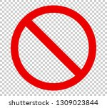 stop sign icon symbol. no sign  ... | Shutterstock .eps vector #1309023844