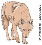 wolf isolated vector... | Shutterstock .eps vector #130903229