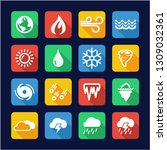 nature elements icons flat... | Shutterstock .eps vector #1309032361