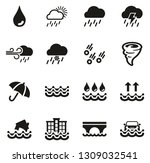 rain or rain flood icons | Shutterstock .eps vector #1309032541