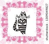 happy birthday greeting card...   Shutterstock .eps vector #1309049827